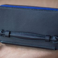 Navy Alran Goat leather Clutch